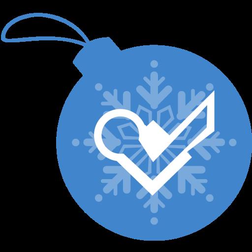 ball, christmas, foursquare icon