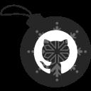 ball, christmas, github icon
