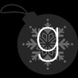 ball, christmas, goodreads icon