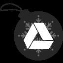 ball, christmas, drive, google icon