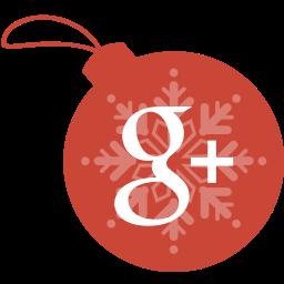 ball, christmas, google, plus icon