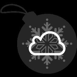 ball, christmas, cloud, icloud icon