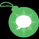 ball, christmas, imessage icon