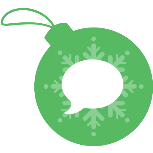ball, christmas, imessage icon