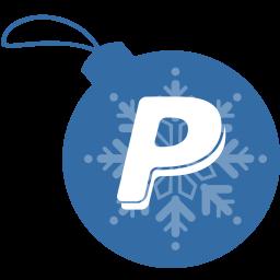 ball, christmas, paypal icon