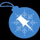 ball, christmas, pinboard icon