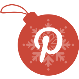ball, christmas, pinterest icon