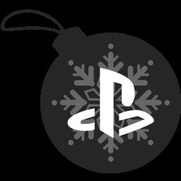 ball, christmas, playstation icon
