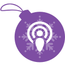 ball, christmas, podcast icon