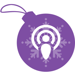 ball, christmas, podcast icon
