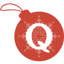 ball, christmas, quora icon