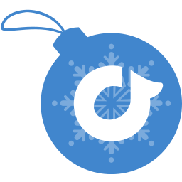 ball, christmas, rdio icon