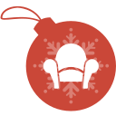 ball, christmas, readability icon