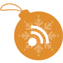 ball, christmas, rss icon