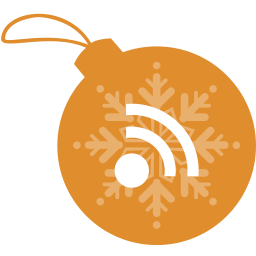 ball, christmas, rss icon