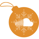 ball, christmas, cloud, sound icon