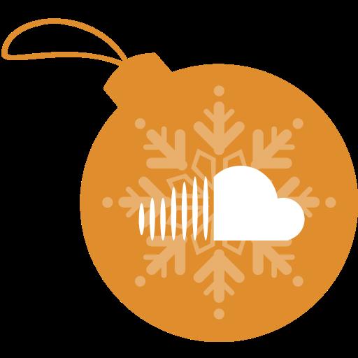 ball, christmas, cloud, sound icon
