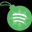 ball, christmas, spotify icon