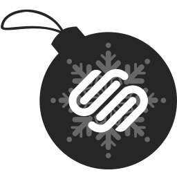ball, christmas, squarespace icon