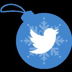 ball, christmas, twitter icon