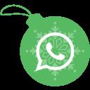 ball, christmas, whatsapp icon