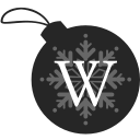 ball, christmas, wikipedia icon