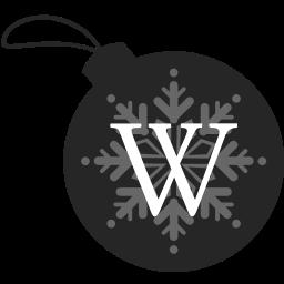 ball, christmas, wikipedia icon