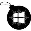 ball, christmas, window icon