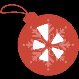 ball, christmas, yelp icon