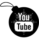 ball, christmas, youtube icon