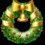 christmas, wreath icon