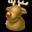 christmas, deer icon