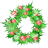 christmas, garland, holly icon
