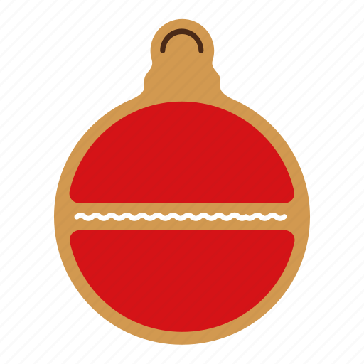 bauble, christmas, cookie, food, gingerbread, sweet, xmas icon