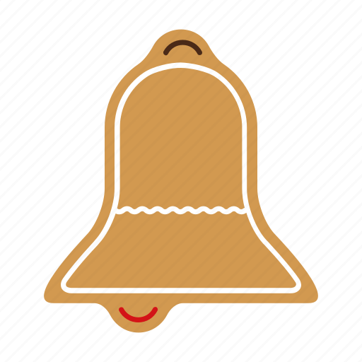 bell, christmas, cookie, food, gingerbread, sweet, xmas icon