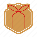 christmas, cookie, food, giftbox, gingerbread, sweet, xmas icon
