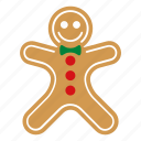 christmas, cookie, food, gingerbread, man, sweet, xmas icon
