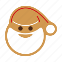 christmas, cookie, food, gingerbread, santa, sweet, xmas icon