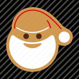 christmas, cookie, food, gingerbread, santa, sweet, xmas icon