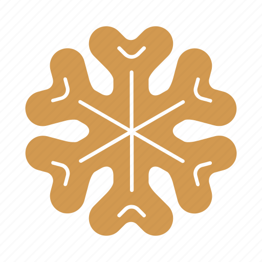 christmas, cookie, food, gingerbread, snowflake, sweet, xmas icon