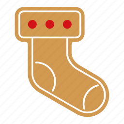 christmas, cookie, food, gingerbread, sock, sweet, xmas icon