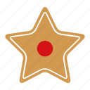 christmas, cookie, food, gingerbread, star, sweet, xmas icon