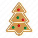 christmas, cookie, food, gingerbread, sweet, tree, xmas icon