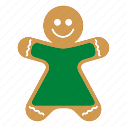 christmas, cookie, food, gingerbread, sweet, woman, xmas icon