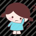 doubtful, emoji, sticker, suspicious, uncertain, unsure, xuxu icon