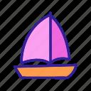 beautiful, boat, doodle, drawing, ship, travel, yacht