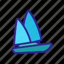 boat, modern, sea, ship, silhouette, wave, yacht