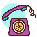 classic, phone, ring, telephone icon