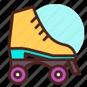fun, roller, skates, speed icon