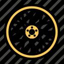 alloywheel, automobile, car, transportation, tyre, wheel, yellow